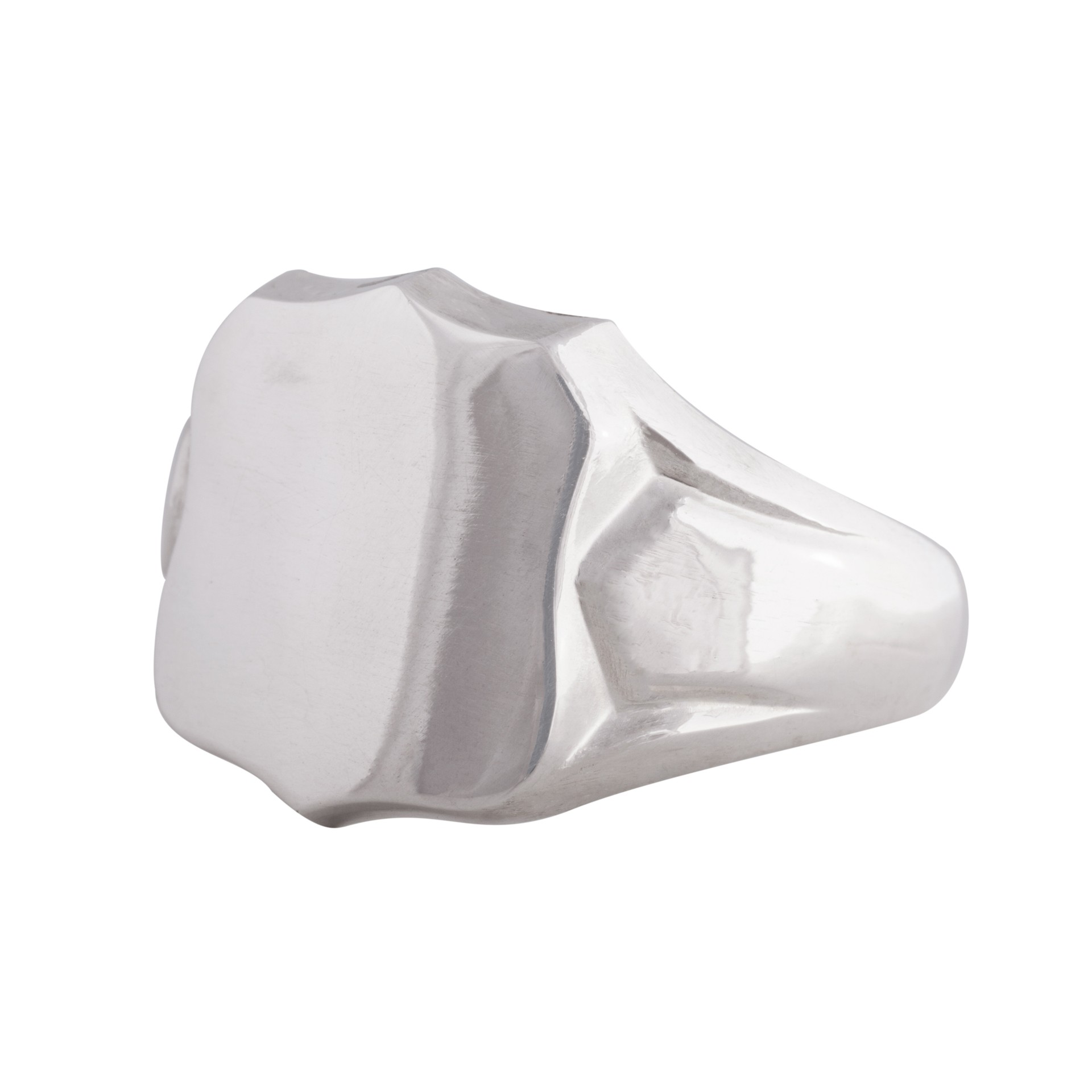 Shield silver signet ring