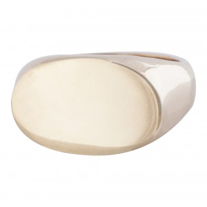 Landscape oval 9ct yellow gold signet