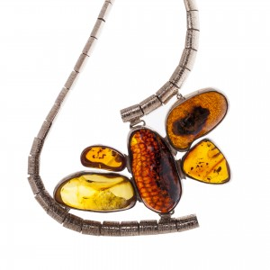 'butterfly' amber necklace