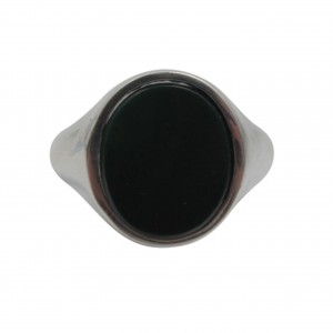 Onyx signet ring